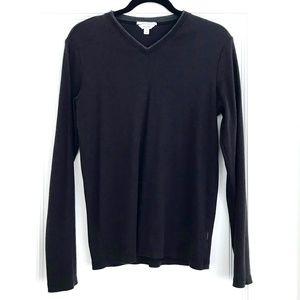 Calvin Klein Liquid Cotton V-Neck Shirt - M